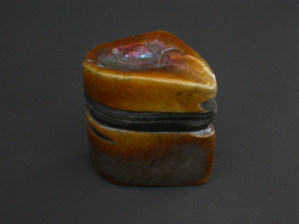 Anthropomorphic Box in Glazed Ceramic