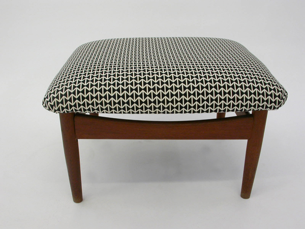 Ottoman with Kvadrat Fabric