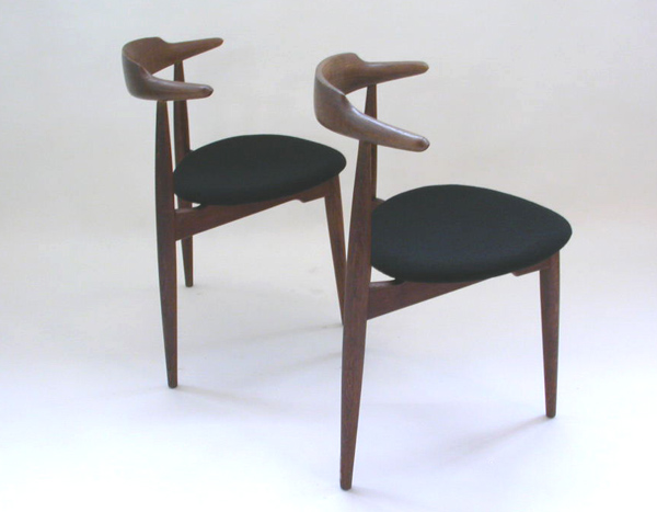 Pair of chairs mod. Heart