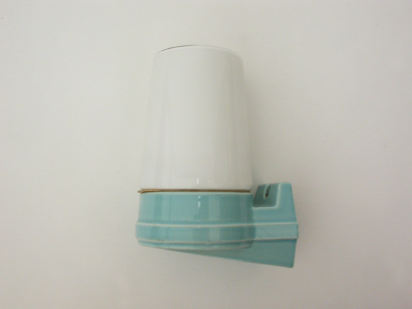 Ceramic and glass sconce