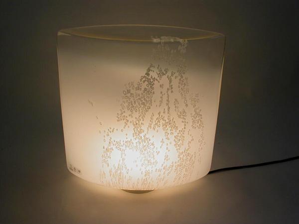 Glass table lamp / flower pot
