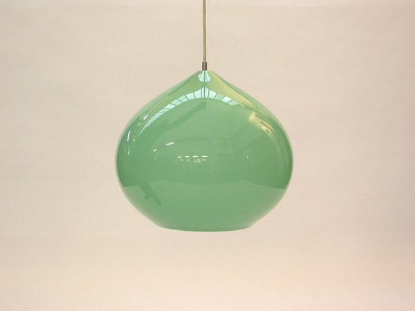 Green ball hanging lamp