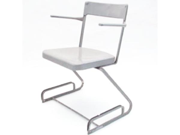 4 Chairs mod. Aluminium-Stuhl