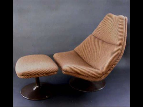 Lounge chair ottoman mod. F585
