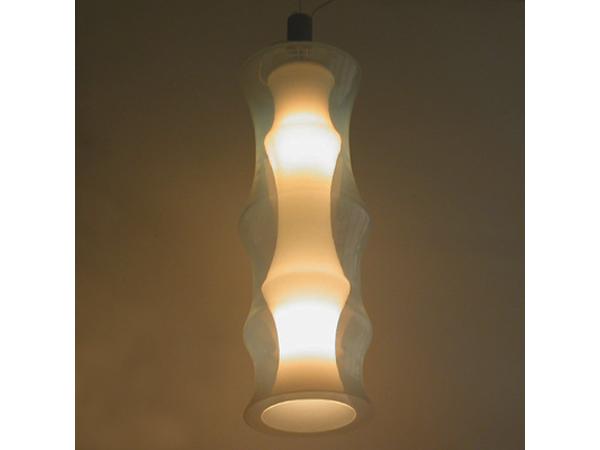 Big glass chandelier