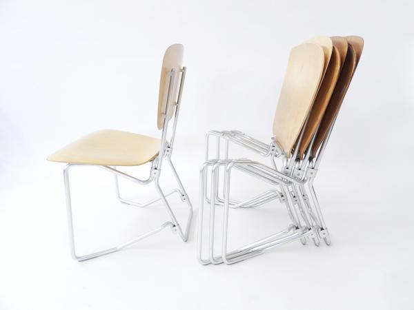 8 Chairs mod. Aluflex First Series