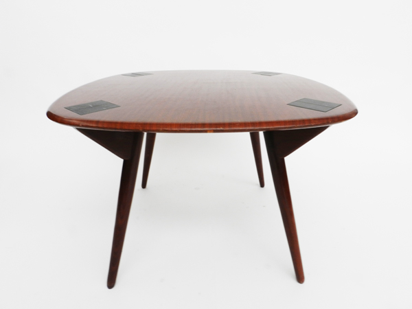 Cards table with 4 armchairs