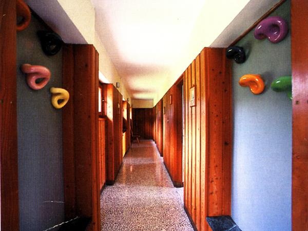 Ceramic coat racks for Villa K2