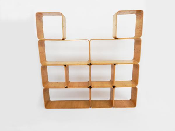 Plywood modular bookshelf
