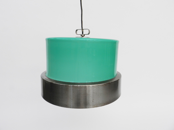 Adjustable glass hanging lamp