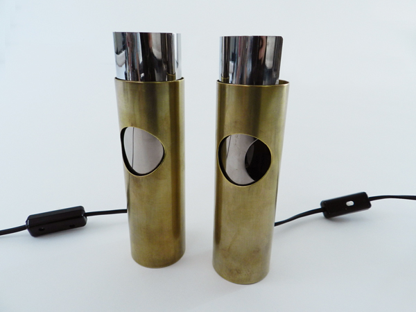Pair of adjustable abatjours