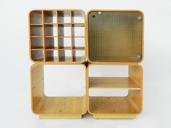 Plywood modular bar bookshelf
