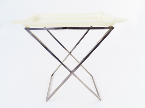 Pliable side table and tray