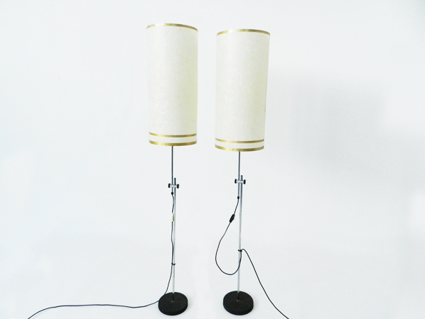 Pair of adjustable floor lamps