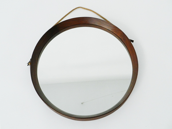 Wood danish mirror