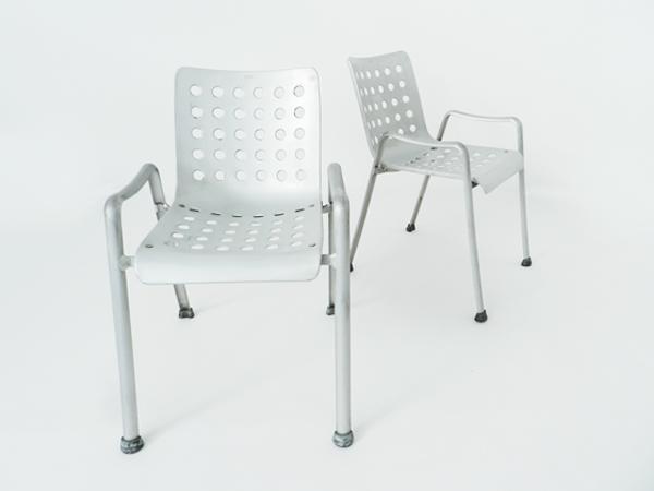 6 Pliable alu chairs mod. Landi