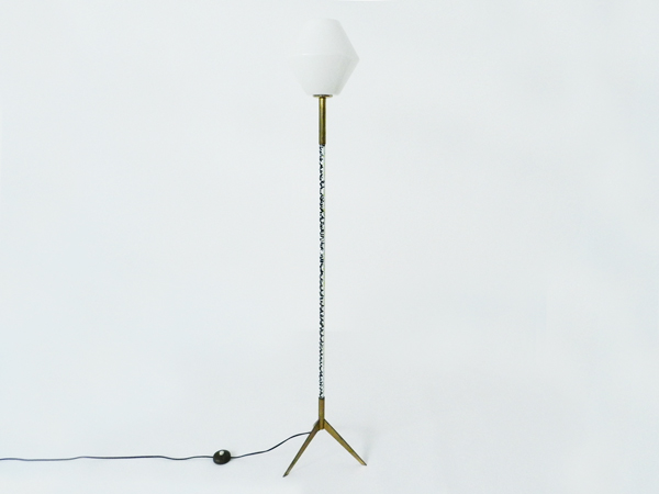 Enameled metal floor lamp