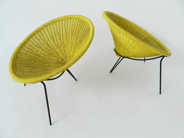 4 Basket armchairs