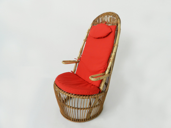 Big rattan armchair