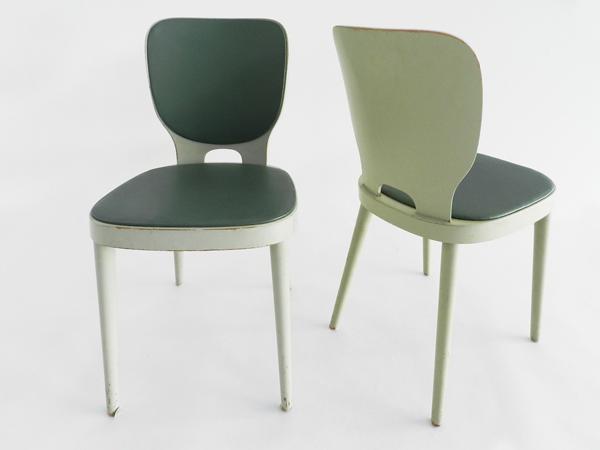 6 Chairs mod. Brettstühle