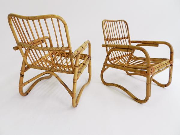 2 Veranda rattan armchairs