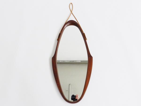 Nordic wooden mirror