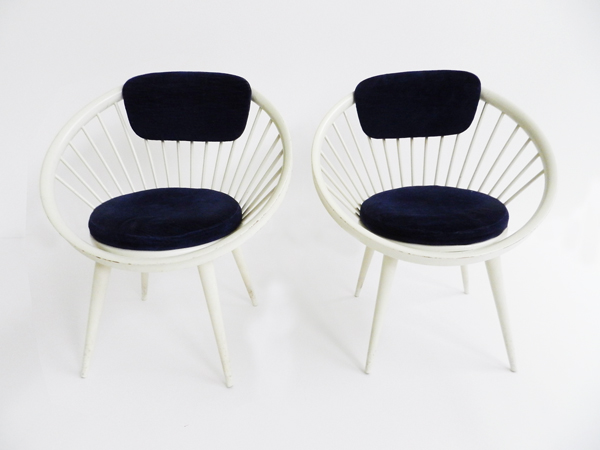 Pair of round Armchairs