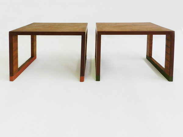 Pair of italian deco stools