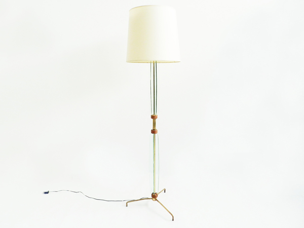 Elegant  glass floor lamp