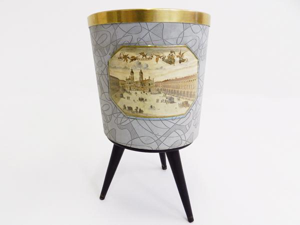 Italian 1950 wastepaper basket