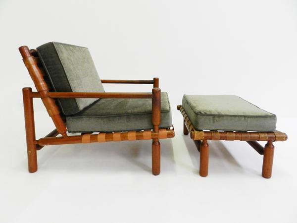 Striped leather Sofa