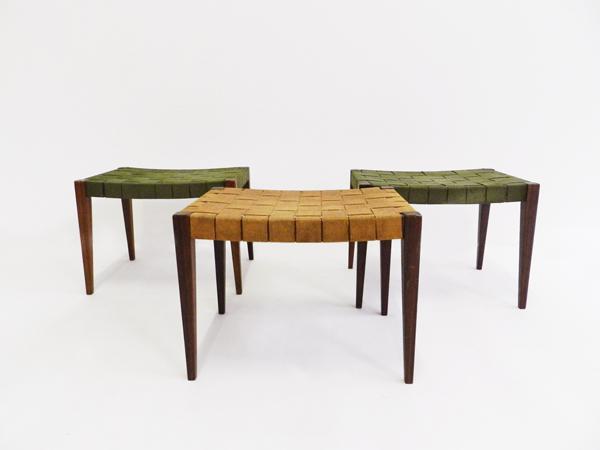 3 Swiss minimal design stools