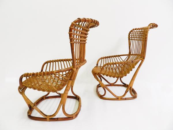 2 rattan Armchairs
