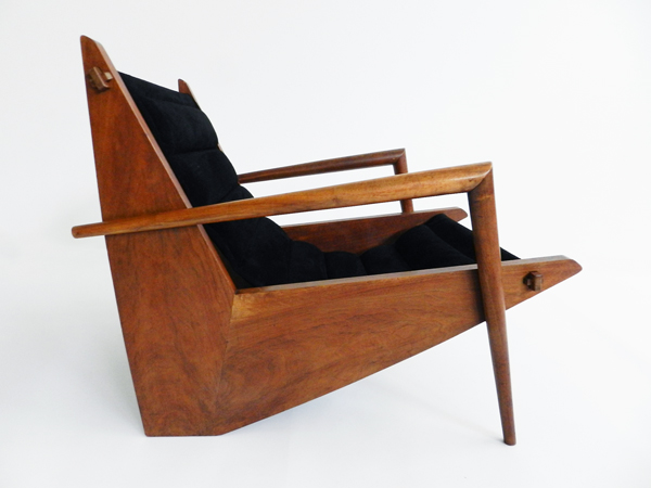 "Iconic ""safari"" suede armchair"