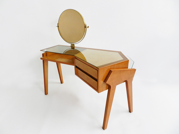 Asymmetrical vanity desk