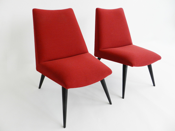 Pair of visitor chairs