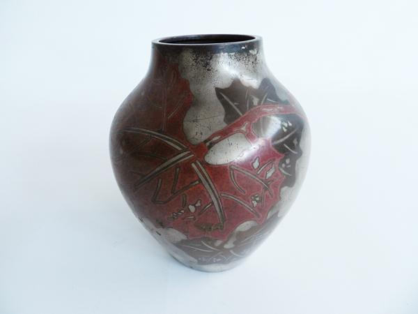 Art Nouveau metal vase