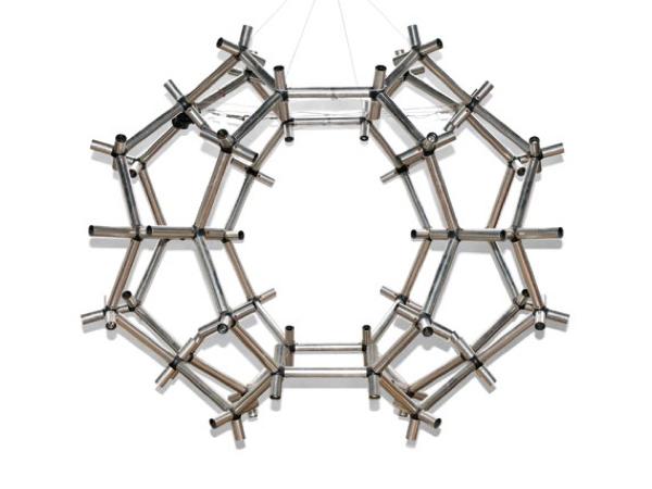 Modular chandelier mod. Lichtplastik