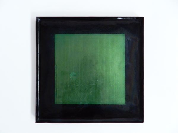 Enameled metal square dish