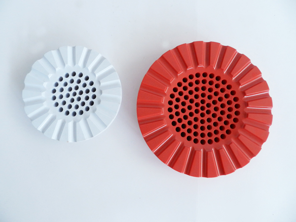 6 Red Ashtrays with Original Kartell Box