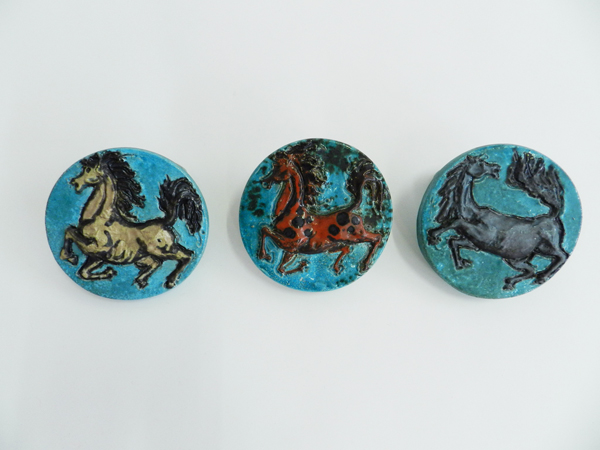 Wild horses ceramic coat racks