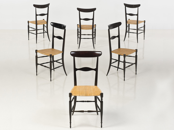 Set of 6 chairs mod. Chiavarina