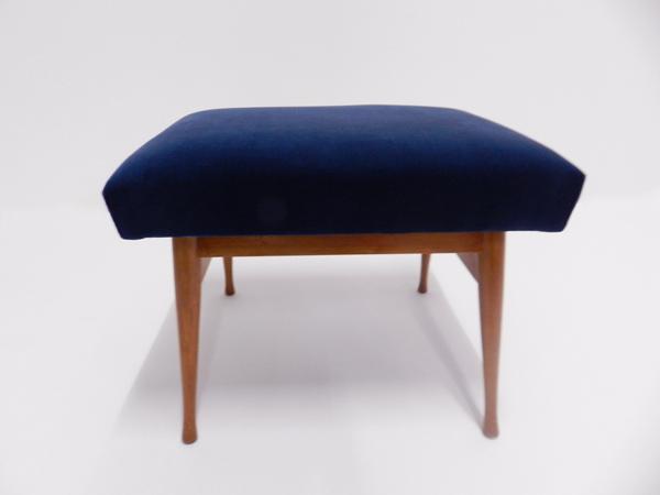 Dust blue velvet stool