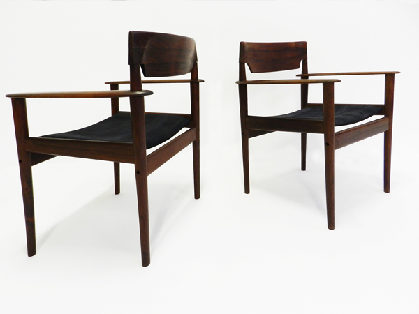 3 Danish armchairs