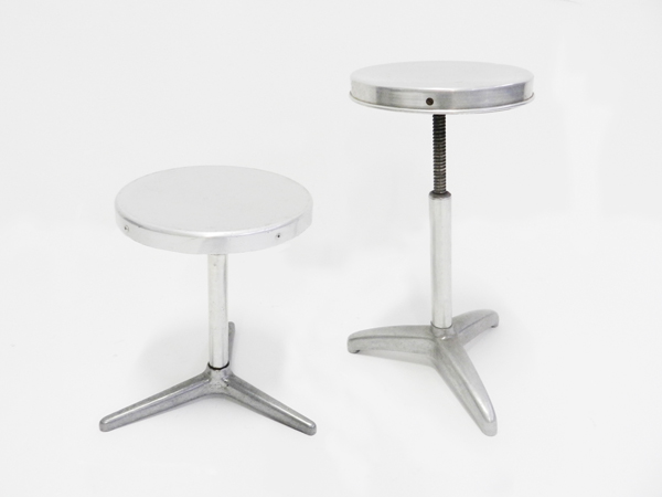 Adjustable 1940 aluminum stools