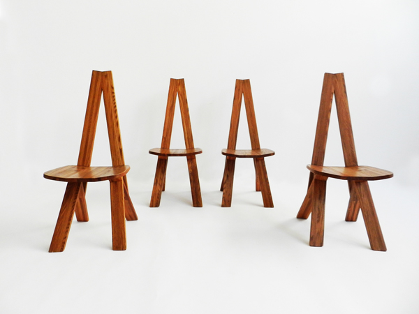 4 Stunning chairs mod. S45