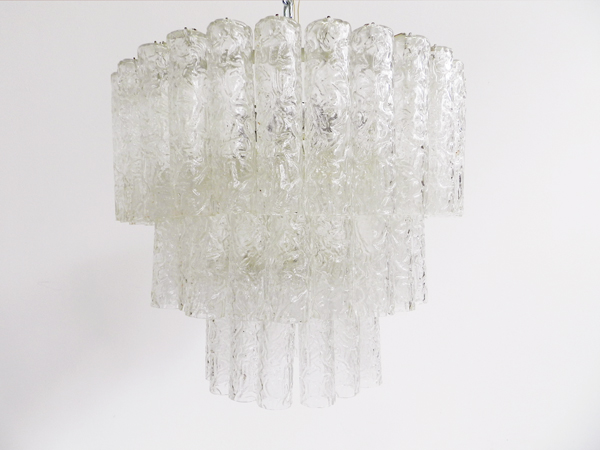 Glass tube chandelier