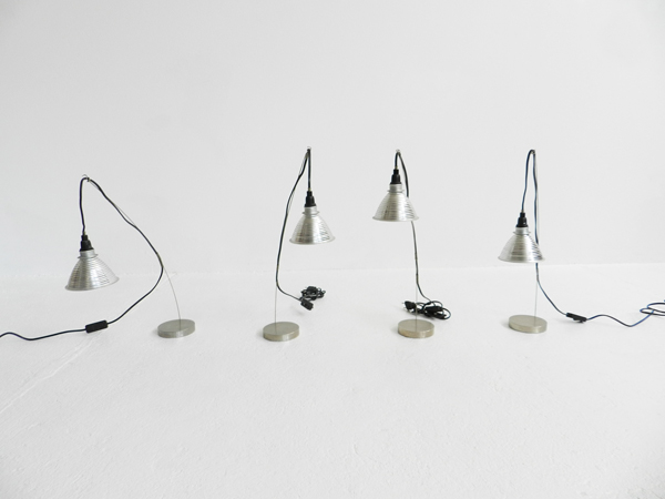 4 Table lamps mod. Grasl Vulgaris