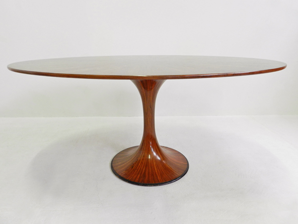 Very rare oval Rosewood table