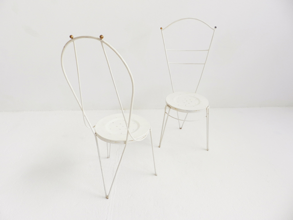 4 French Metal chairs